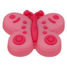 Kids Pink Butterfly Cabinet Knob