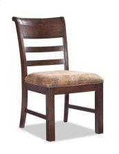 Rustic Heirloom Ladder Back Side Chair w/Cushion