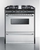 """30"""" Wide Slide-in Gas Range With Stainless Steel Doors and Sealed Burners; Replaces Tnm21027bfrwy Product Image"""
