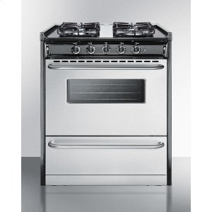 "Summit30"" Wide Slide-in Gas Range With Stainless Steel Doors and Sealed Burners; Replaces Tnm21027bfrwy"