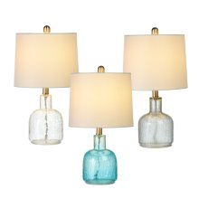 3 pc. ppk. Translucent Crackle Accent Lamp. 40W Max. (3 pc. ppk.)