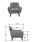 Daphne Gray Sofa Love Chair, SWU6928 Product Image