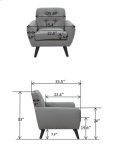 Daphne Gray Sofa Love Chair, SWU6928 Product Image