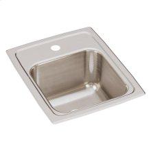 """Elkay Lustertone Classic Stainless Steel 13"""" x 16"""" x 7-5/8"""", Single Bowl Drop-in Sink"""