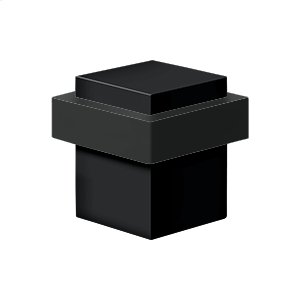 "Square Universal Floor Bumper 1-3/8"", Solid Brass - Paint Black"