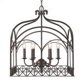 Smithsonian Gateway 6 Light Chandelier in Fired Bronze