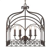 Smithsonian Gateway 6 Light Chandelier in Fired Bronze