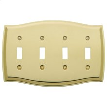 Polished Brass Colonial Quad Toggle