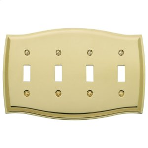 Polished Brass Colonial Quad Toggle Product Image