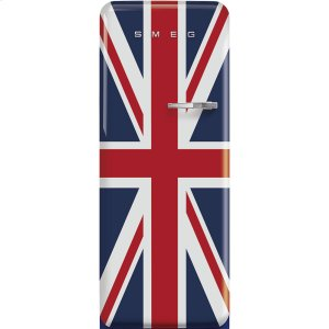 Smeg'50s Style fridge with ice compartment, Union Jack, Left-hand hinge, 24'' in-width