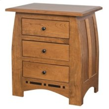 Hayworth 3 Drawer Nightstand
