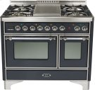 "Matte Graphite 40"" 6 Burner Majestic Techno Dual Fuel Range Product Image"
