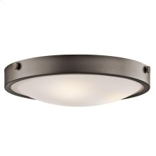 Lytham Collection 3 Light Flush Mount Ceiling  Olde Bronze