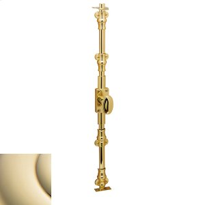 Lifetime Polished Brass Ornamental Cremone Bolt Product Image