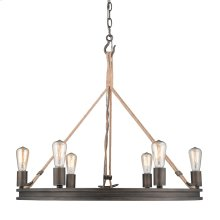 Chatham 6 Light Chandelier in Gunmetal Bronze