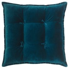 Talia Velvet Pillow, TEAL, 20X20