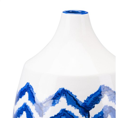 Chevron Bottle Lg Cobalt