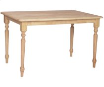 """30"""" x 48"""" Complete Table w/ Turned Legs Natural Product Image"""