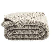 Bella Gigi Knit Throw - Palewisper