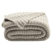 Bella Gigi Knit Throw - Palewisper