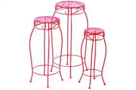 Martini Accents Round Plant Stands - Cherry Pie