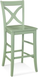 Hues Counter Stool with Wood Seat Product Image