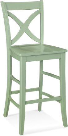 Hues Counter Stool with Wood Seat