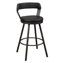 Swivel Pub Height Chair, Black