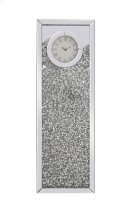 12 inch Rectangle Crystal Wall Clock Silver Royal Cut Crystal Product Image