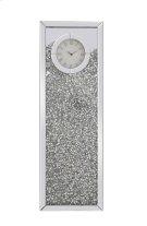 12 inch Rectangle Crystal Wall Clock Silver Royal Cut Crystal Product Image