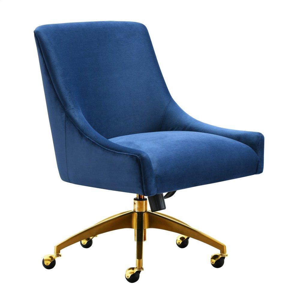 Beatrix Navy Office Swivel Chair