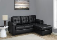 SOFA LOUNGER - BLACK BONDED LEATHER