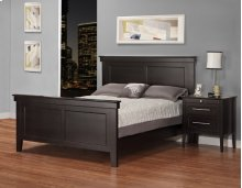 "Queen Bed w/High Footboard 69""Wx52""Hx87""L"