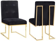 Akiko Black Velvet Chair (Set of 2) Product Image