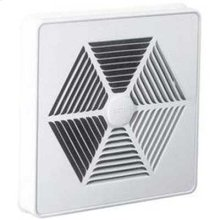 """Grille Kit, White Painted Steel Metal for 10"""" fan units with switch hole"""