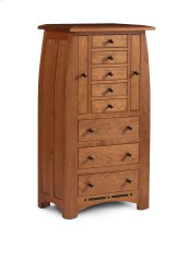 Aspen Jewelry Armoire with Inlay
