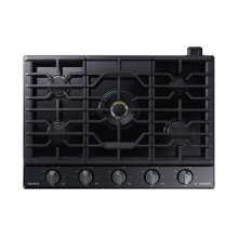 """30"""" Gas Chef Collection Cooktop with 22K BTU Dual Power Burner, NA30N9755TM/AA (Black Stainless)"""
