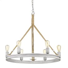 Chatham 6 Light Chandelier in Gray Driftwood
