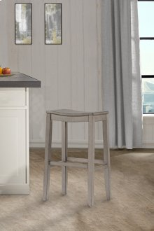 Fiddler Non-swivel Backless Bar Stool - Aged Gray