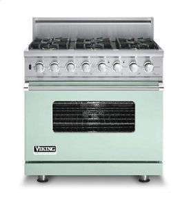 "36"" Custom Sealed Burner Dual Fuel Range, Propane Gas, No Brass Accent"