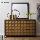 Hudson 6 Drawer Dresser in Gold and Black Product Image