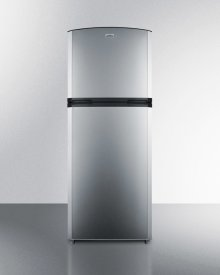 """Counter Depth Frost-free Refrigerator-freezer With A 26"""" Footprint and Reversible Stainless Steel Doors"""