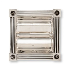 Oil Rubbed Brass Reeded with Rosette Recessed Paper Holder