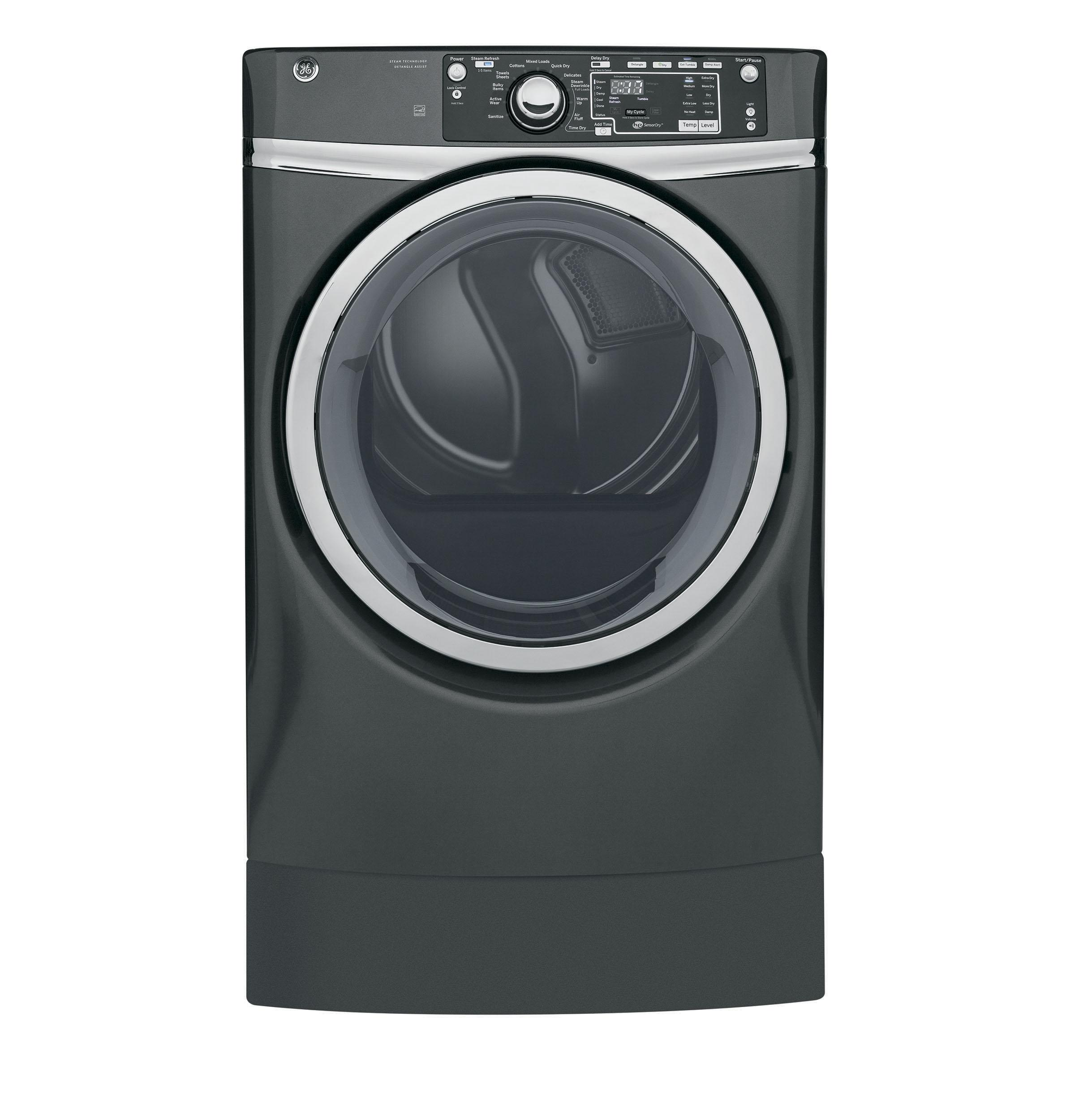 GE(R) 8.3 cu. ft. Capacity RightHeight(TM) Front Load Gas ENERGY STAR(R) Dryer with Steam
