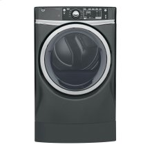 GE® 8.3 cu. ft. capacity RightHeight™ Design Front Load electric ENERGY STAR® dryer with steam