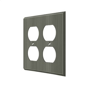 Switch Plate, Quadruple Outlet - Antique Nickel