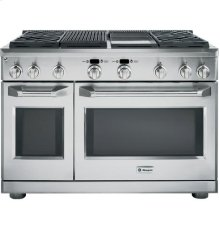 """GE Monogram® 48"""" Dual-Fuel Professional Range with 4 Burners, Grill, and Griddle (Liquid Propane)"""