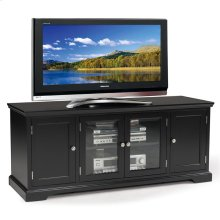 "Black Hardwood 60"" TV Console #83360"