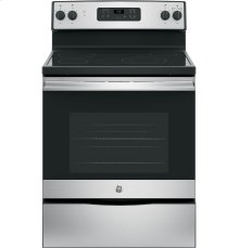 """GE® 30"""" Free-Standing Electric Range-Small Dent on Top Frame"""