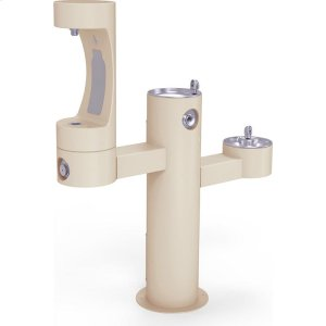 Elkay Outdoor EZH2O Bottle Filling Station Tri-Level Pedestal, Non-Filtered Non-Refrigerated Beige Product Image